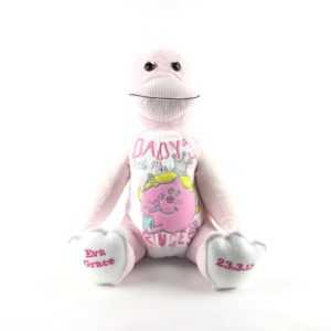 Handmade Duck Keepsake Made from Baby clothes