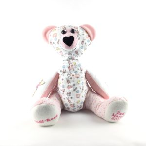 Memory bear, keepsake bear, keepsake made from baby clothes