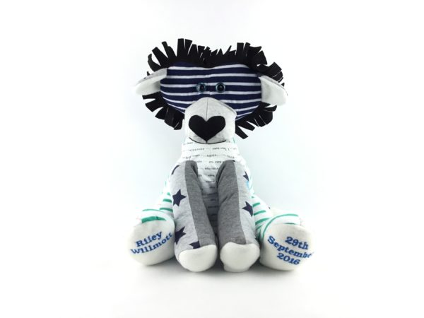Memory Lion Keepsake, Personalised Gift, Baby Keepsake,