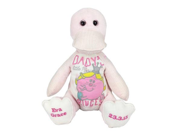 Baby clothes keepsakes, duck keepsake, memory keepsake made from baby clothing