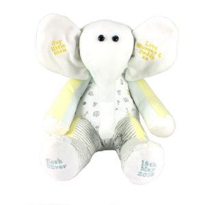 Elephant memory keepsake uk, teddy bear keepsake uk, baby clothes Keepsakes uk