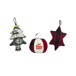 Christmas tree decoration keepsake, Christmas baby clothes keepsakes