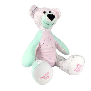 Teddy bear keepsake made from baby or loved ones clothes