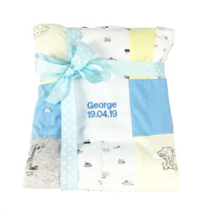 Baby clothes blanket keepsake, patchwork blanket memory keepsake, treasured memory keepsake,