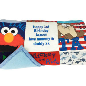Baby grows blanket, memory blanket, keepsake blankets
