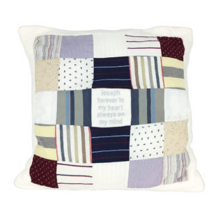 Grown up memory cushion, grown up keepsakes, keepsakes made from clothes