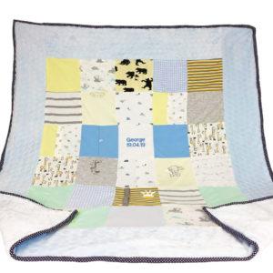 Cuddle patchwork blanket, memory blankets