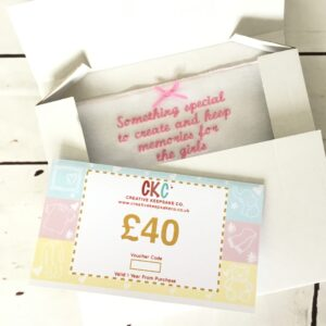 Gift Voucher for baby clothes keepsakes