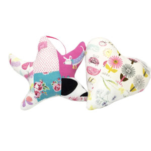 Patchwork heart Keepsake, hanging heart Keepsake, patchwork star Keepsake