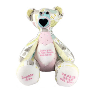 Memory Bear Keepsake, baby keepsakes, Memory Bear from clothing, Memory Bear UK