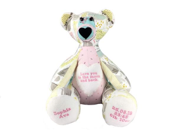Memory Bear Keepsake, baby keepsakes, Memory Bear from clothing, Memory Bear UK