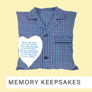 Memory cushion keepsake,memory cushions made from clothing