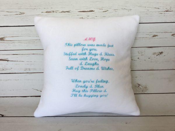 Personalised Cushion Keepsake, bespoke special message cushion, handmade cushion