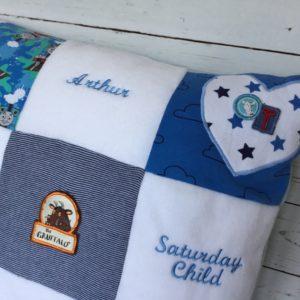 Cushion memory keepsake from baby grows