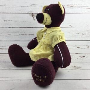 Memory Bears created from sports kits